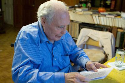 Dr. Peters recording his talk, Nov. 2009